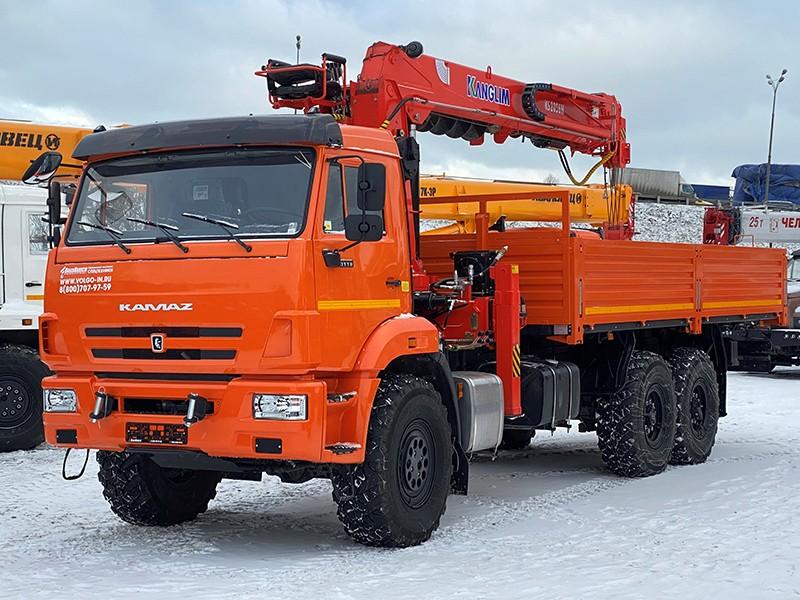 КМУ Kanglim 2056 КАМАЗ 43118 с буром