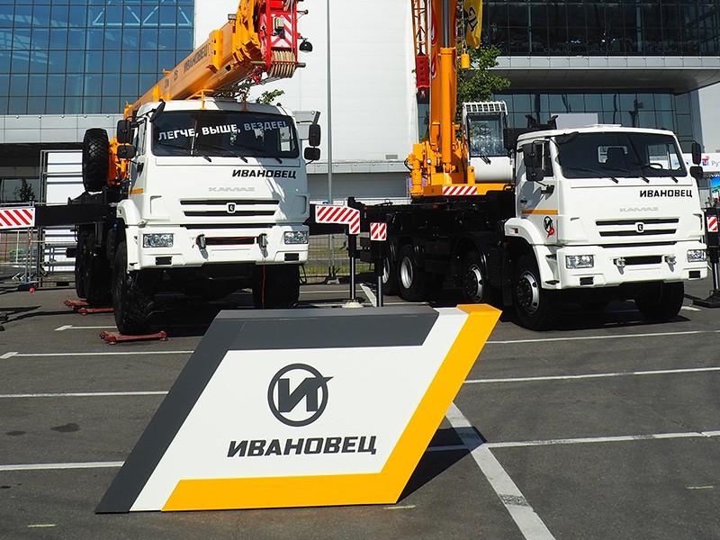 На выставке Bauma CTT в Москве была представлена новая линейка автокранов Ивановец.