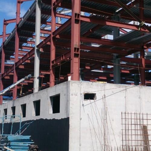Строительный процесс в Кемерово.